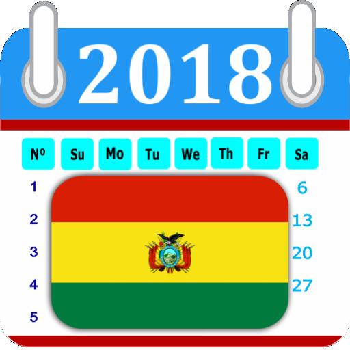 Bolivia 2018 Calendar-Holiday