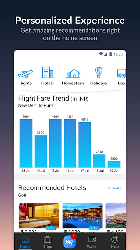 MakeMyTrip-Flights Hotels Cabs IRCTC Rail Bookings app (apk) free download for Android/PC/Windows screenshot