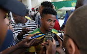 George Lebese of Mamelodi Sundowns during the Absa Premiership 2017/18 Mamelodi Sundowns Sponsorships Announcement at Hyundai Dealership in Johannesburg, South Africa on 13 October 2017.