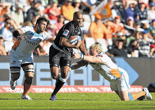 JP Pietersen of the Sharks runs with the ball during the recent Super rugby match against the Cheetahs.