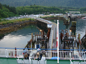 Photo: The BC Ferry at dock in Prince Rupert.