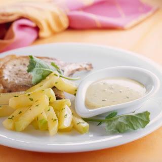 Curry-Petersilien-Kohlrabi mit Kräuter Sauce