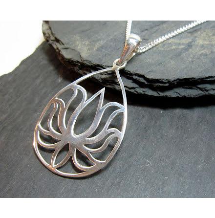 Silverhalsband Lotus