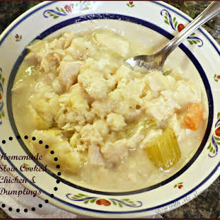 Easy and Delicious Slow Cooker Chicken And Dumplings.