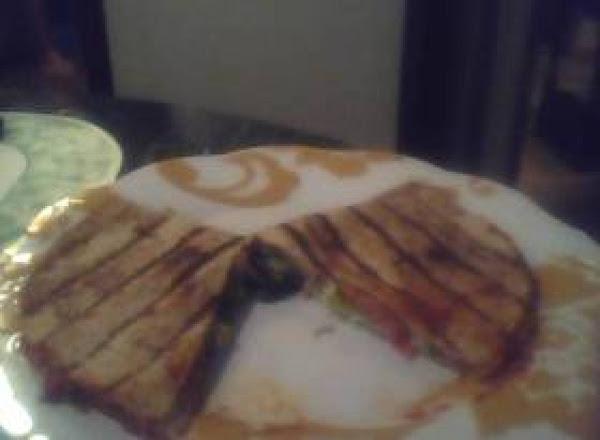 Grill Cheese Flat Bread Pizza Sandwich Recipe