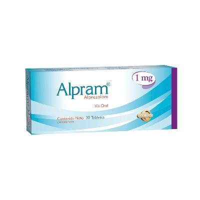 Alprazolam Alpram 1,0 mg x 30 Tabletas Valmor 1 mg x 30 Tabletas