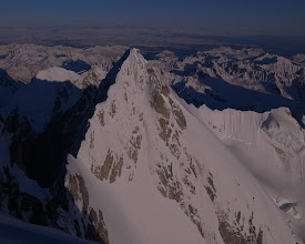 Photo: View of Beartooth from the summit of Mooses Tooth, Alaska