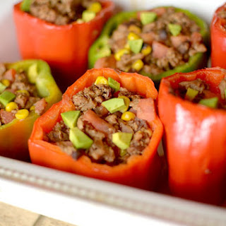 Burrito Bowl Stuffed Peppers