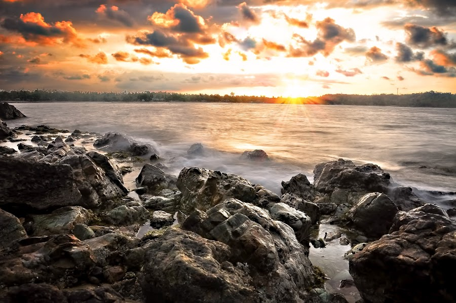 Sunset by the Beach by Eshwer Gonzales - Landscapes Travel