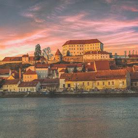 Old town Ptuj by Mitja Kosi - City,  Street & Park  Historic Districts ( ptuj sunset old city )