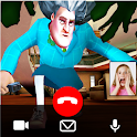 Scary Horrible Teacher Video Call - Chat Prank icon