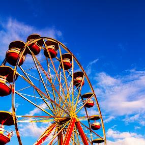 by Asya Atanasova - City,  Street & Park  City Parks ( roundabout, enjoyment, sky, blue, high, fair,  )