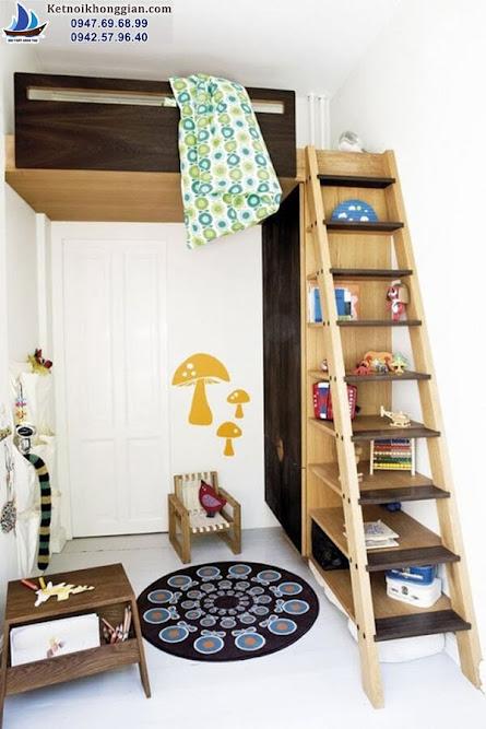 thiết kế phòng ngủ của bé gọn gàng