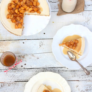Vegan Apple Caramel Cheesecake