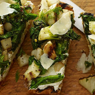 Grilled Ciabatta with Spicy Broccoli Rabe & Fennel.
