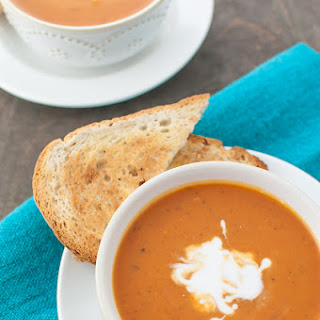 Lazy Mom's Creamy Tomato Basil Soup