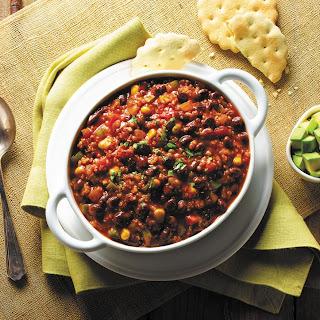 Quinoa and Black Bean Chili.