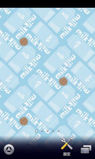 牛乳のビンパターン壁紙【スマホ待受壁紙】