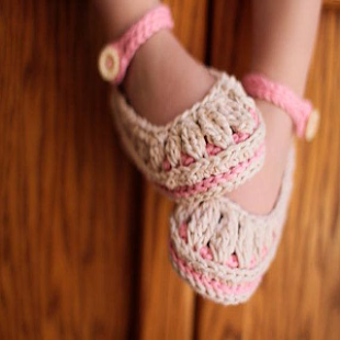 Crocheting Baby Shoes - náhled