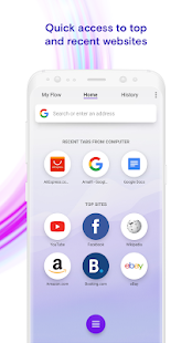 Opera Touch: the fast, new web browser Screenshot