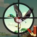 Duck hunting attack icon