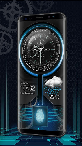 Fingerprint Lock with Analog Clock Prank  screenshots 3