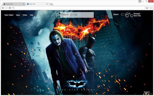 Joker Vs Batman Hd Wallpaper New Tab