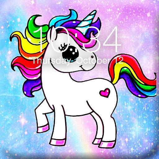 Pony Unicorn App Lock Screen