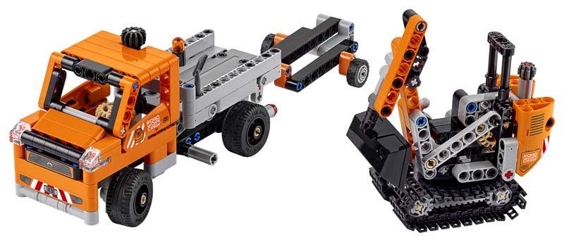 Contenido de Lego® 42060 Equipo de Trabajo en Carretera
