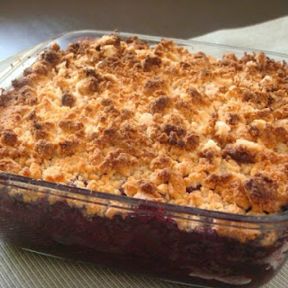 Berry Crumble with Coconut & Almond Flour.