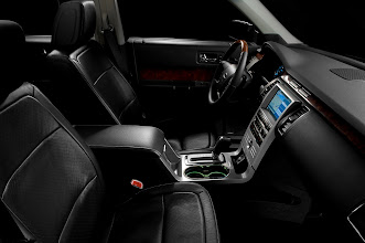 Photo: 2010 Flex with EcoBoost: The EcoBoost engine will be available on the SEL and Limited editions of the 2010 Ford Flex. The SEL features leather-trimmed seats while the Limited has perforated leather-trimmed seats.