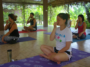Photo: Pranayama class - Breathing techniques - Alternate Nostril Breathing