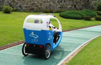Photo: Veloform Media's #CityCruisers are now rolling in #Suwon City, South Korea. The first vehicles are circulating around the truly majestic #Hwaseong Palace, which was designated as a #UNESCO world heritage in 1997. The City administration is planning to expand the CityCruiser fleet soon.