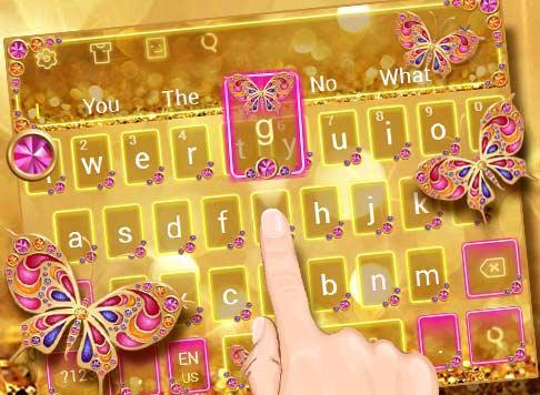 Golden Butterfly Keyboard Theme 10001001 screenshots 5