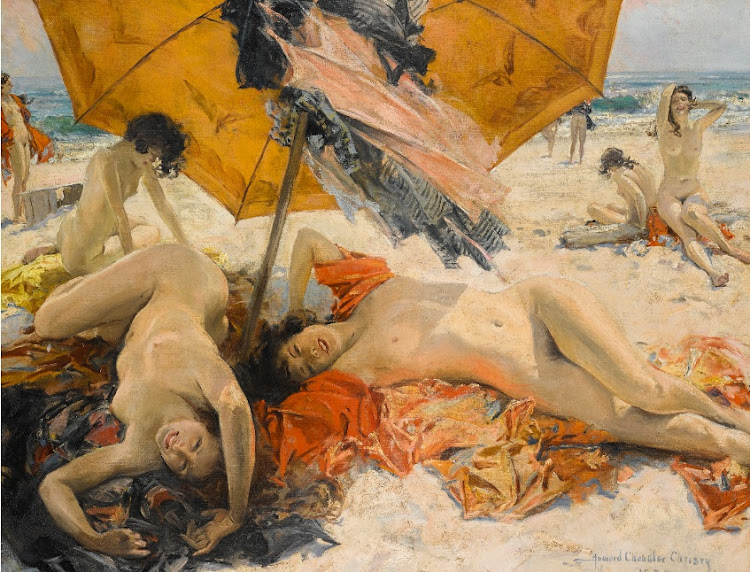 Howard Chandler Christy's Nudes at the beach. Picture: SOTHEBYS