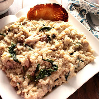 Cream Mascarpone Chicken Risotto