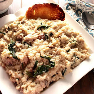 Cream Mascarpone Chicken Risotto.