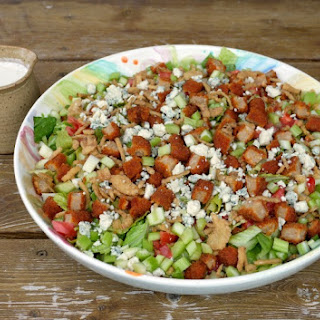 Crispy {Vegetarian} Buffalo Chicken Salad