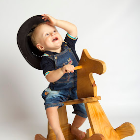 Cowboy baby riding horse by Anco Pretorius - Babies & Children Toddlers