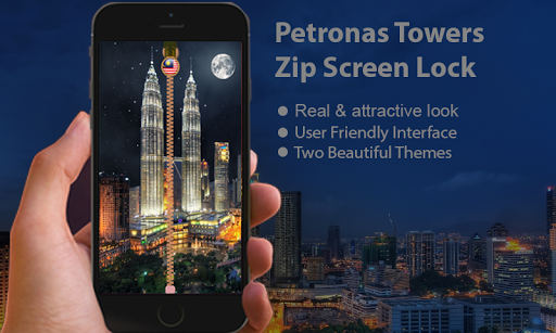 Petronas Tower Zip Screen Lock