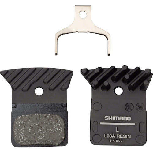 Shimano L03A Resin Disc Brake Pads - Resin, Aluminum Backed, Finned