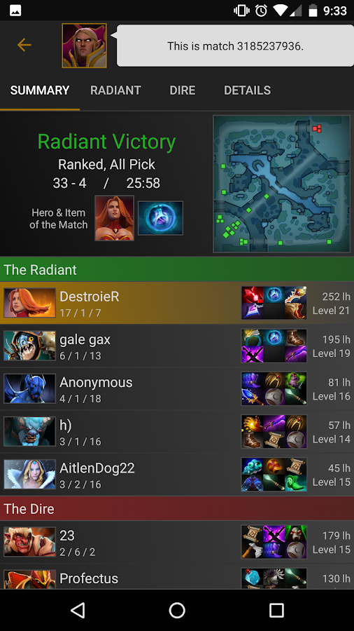stats for dota 2 android apps on google play