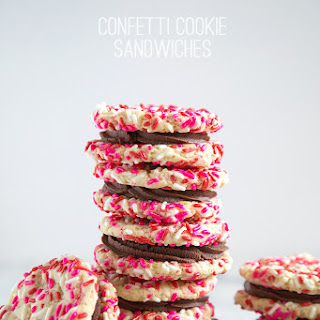 Confetti Cookie Sandwiches