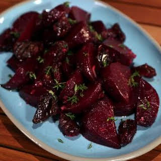 Roasted Beets with Dates and Horseradish.