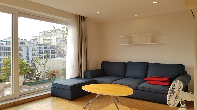Open view 1 – bedroom apartment with balcony in To Ngoc Van street, Tay Ho district for rent