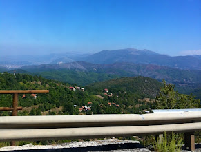 Photo: View of Macedonia from bus.