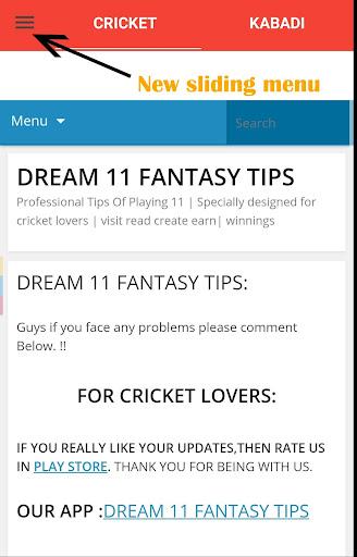 Fantasy 11 cricket Tips - Dream11 Team Predictions 6.6 screenshots 3