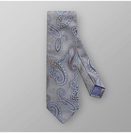 ETON grå ljust blå paisley mönstrad slips