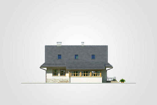Dom Bacy - Elewacja przednia
