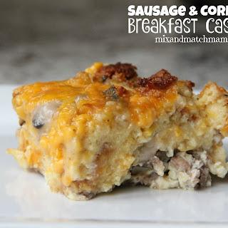 Sausage & Cornbread Breakfast Casserole Recipe